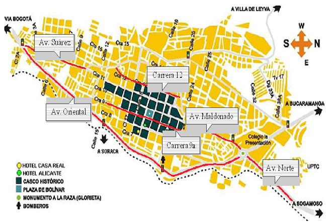 EIDENAR Escuela De Ingeniería De Los Recursos Naturales Y Del - Tunja map